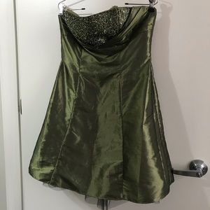 Forest Green Prom Dress Size Junior 13/14